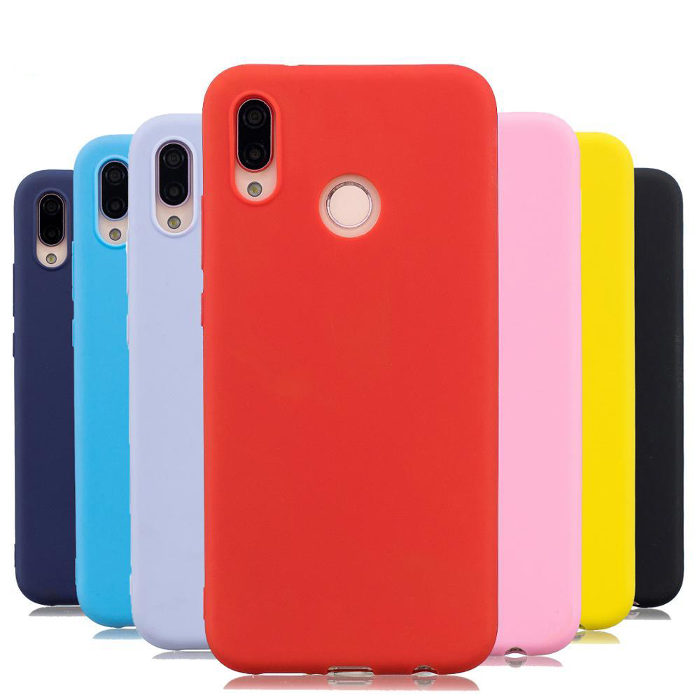Candy color Case For Huawei P20 P30 Lite Mate 20 Pro Y6 Y9 P Smart 2019 Y5 Cover On Honor 20 8X 10 9 lite Huawei P20 lite Case