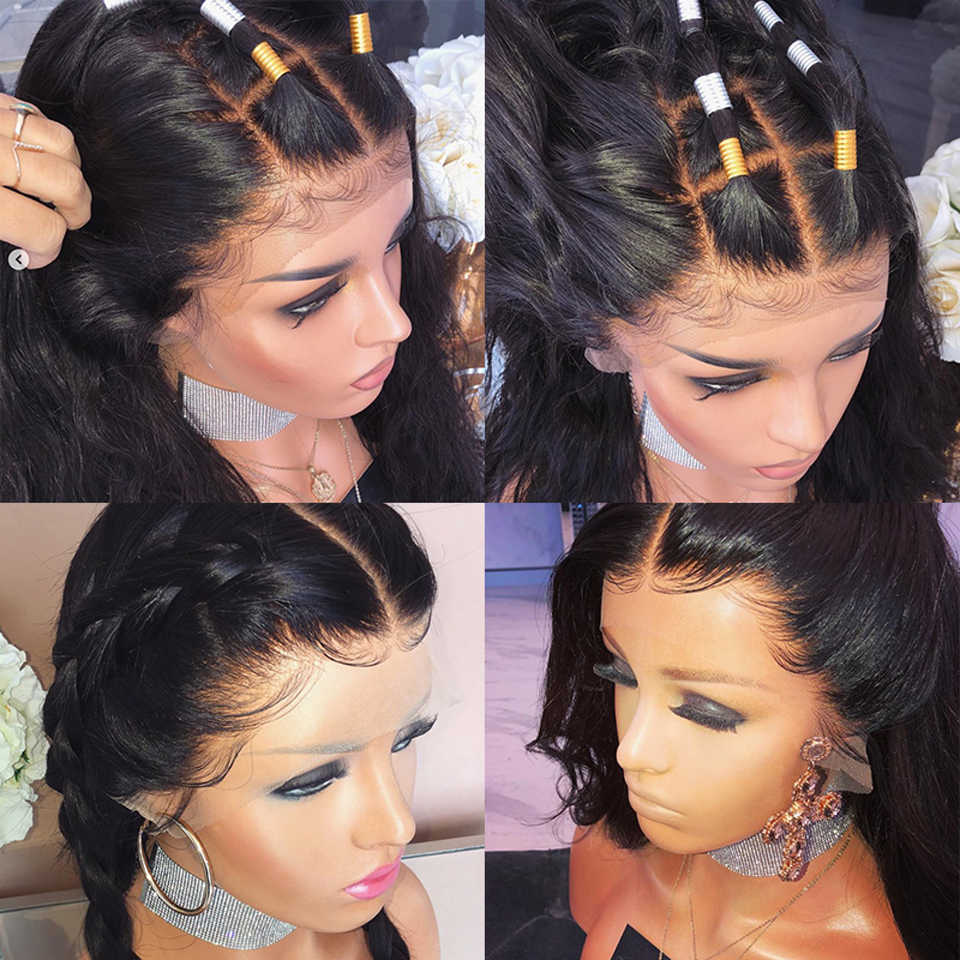 Peruka body wave fryzura pixie peruka 13x4 koronkowa peruka na przód brazylijski krótki bob koronki przodu peruki z ludzkich włosów dla kobiet nie Remy 150% gęstości