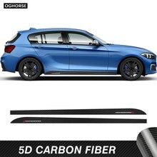 2 uds para BMW serie 1 F40 M rendimiento falda lateral alféizar de adhesivos pegatinas Accesorios