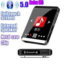 Original RUIZU M5 Esporte Bluetooth MP3 Player 8gb Clipe Mini Full touch screen Apoio FM, Gravação, E-Book, Relógio, Hodômetro