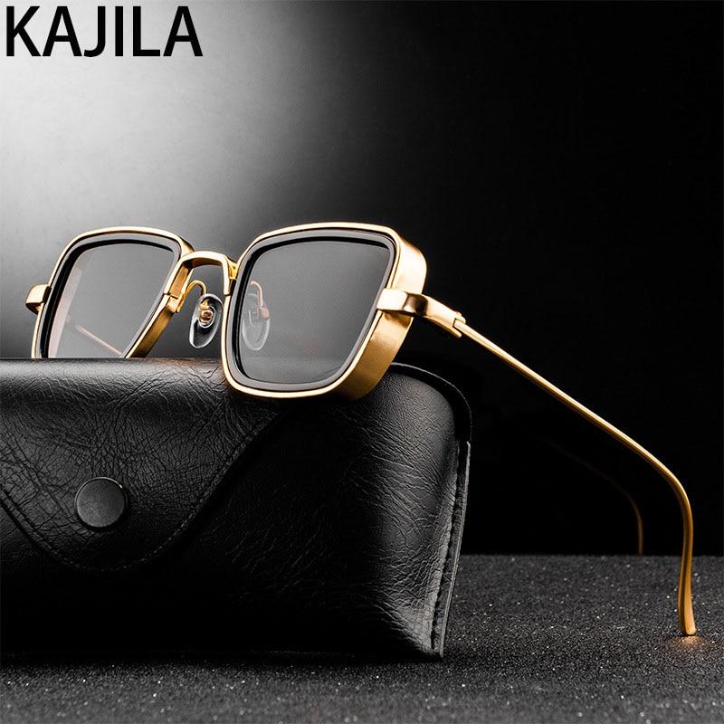 Vintage Steampunk Sonnenbrille Männer 2020 Retro Metall Platz Brillen Trendy Marke Sonnenbrille Shades Für Frauen lunette de soleil