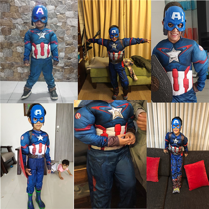 Best-selling Children Superhero Muscle Anime Costume Boys and Girls Gloves Props Halloween Cosplay Fantasy Costumes 3