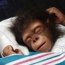 Kit de muñecas renacer mono orangutanes realista artista hecho pecado paitar piezas de muñeca en blanco