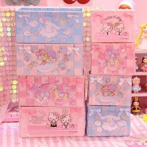 Little Twin Star Melody Cinnamoroll Sailor Moon корзина для хранения из ПВХ полка для организации игрушки девочка розовый рождественский подарок