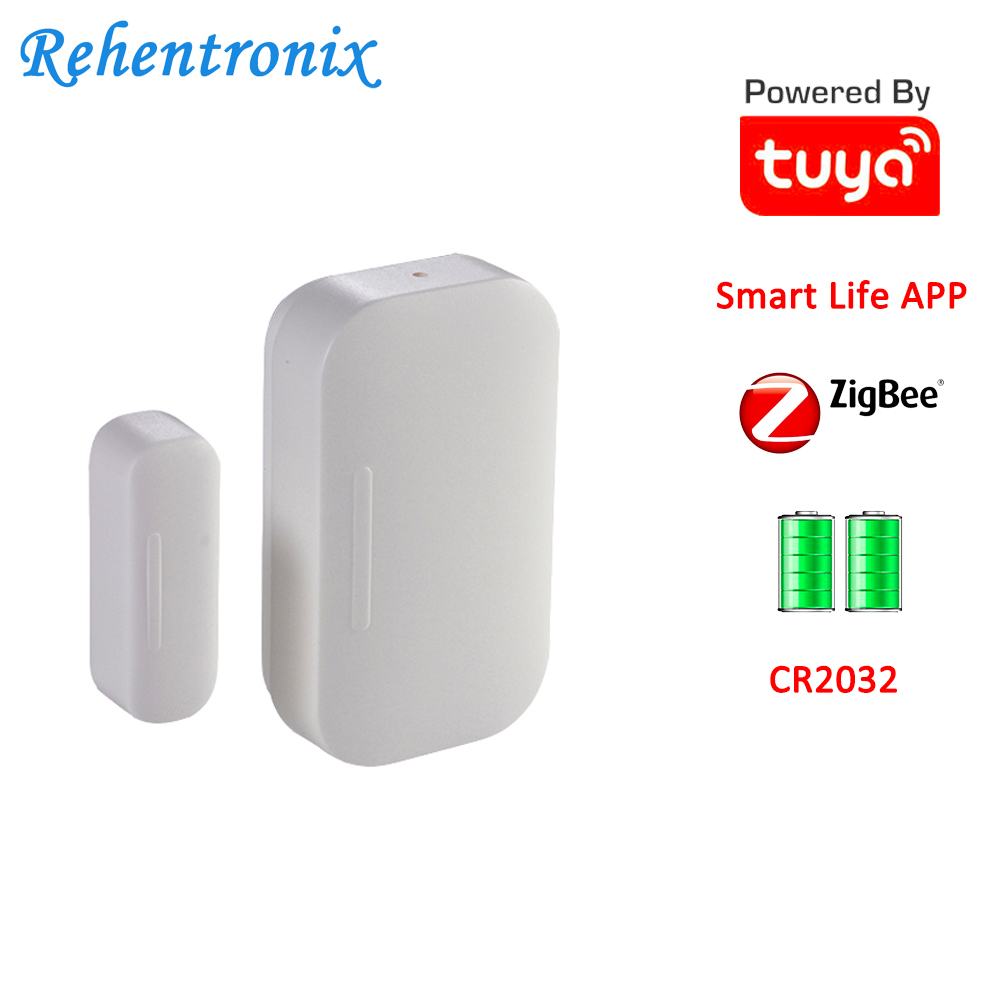 Battery Powered Smart Life APP Tuya Smart ZigBee Door Window Contact Sensor ON OFF Status Sensor Working 2 Years
