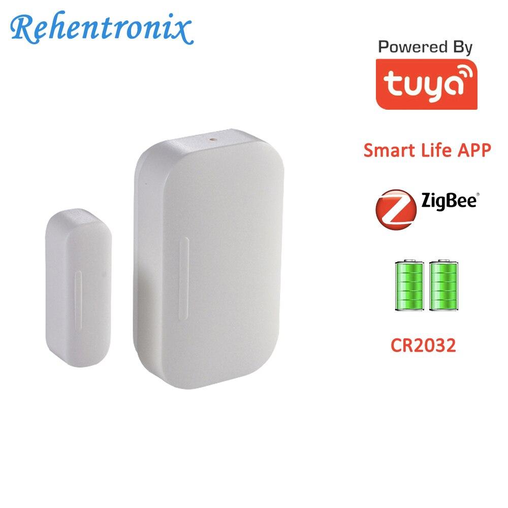 Battery Powered Smart Life APP Tuya Smart ZigBee Door Window Contact Sensor ON OFF Status Sensor Working 2 Years