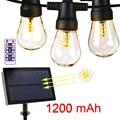 Солнечная панель  Светодиодная лента  батарейный блок G40 G45  Рождественская лампочка  светильник  медный провод  источник питания  солнечная ...