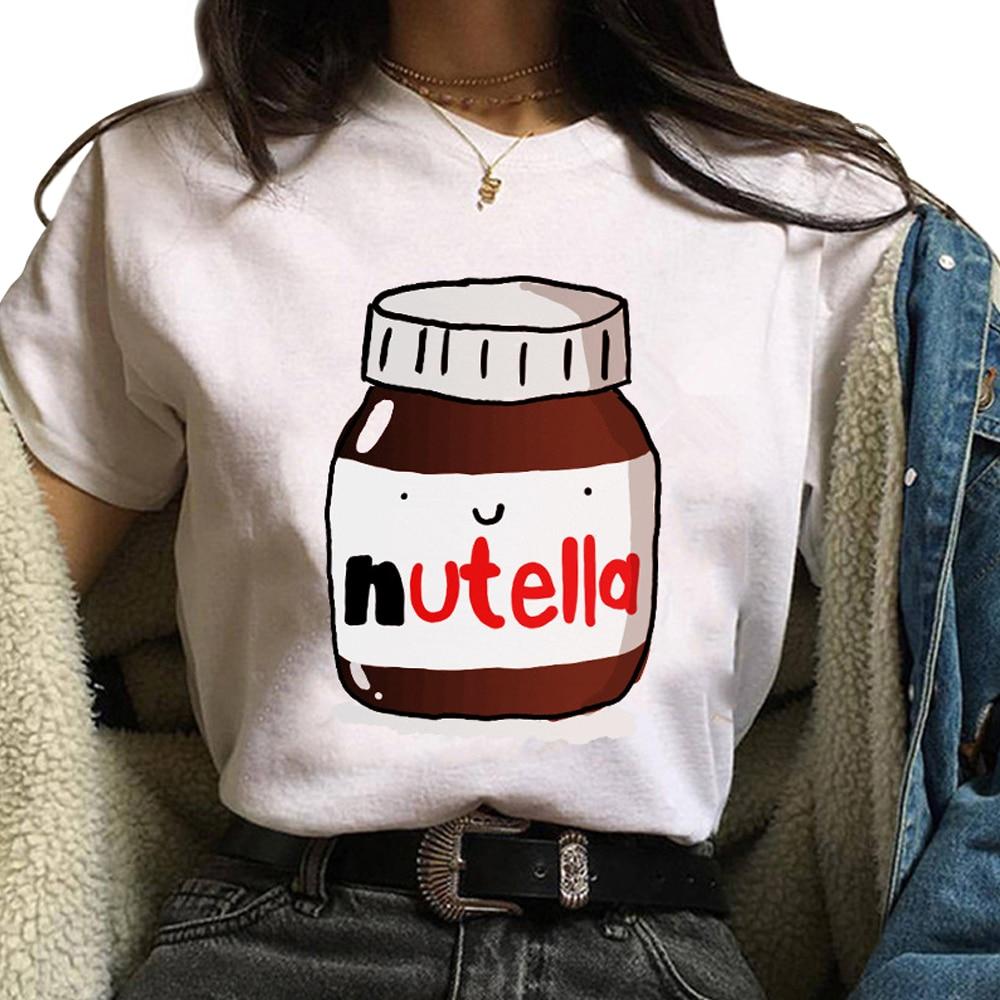 Women's Round Neck Short Sleeve Tops Cartoon Printed T Shirts