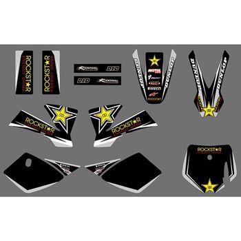 Pegatinas gráficas completas para motocicleta, Fondo de motocicleta, número personalizado, nombre 3M para KTM SX 50 SX50 2002 2003 2004 2005 2006 2007 2008