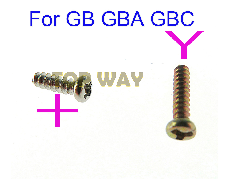 30PCS Replacement For <font><b>Gameboy</b></font> + screws cross screws Y Tri Wing Screw For GB GBA GBC <font><b>Game</b></font> Console Shell Case Triangle Screws image