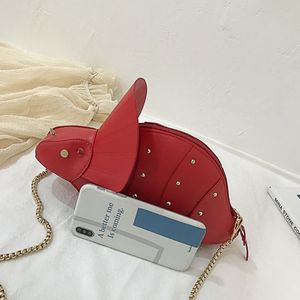Image 4 - نساء موضة ديناصور شكل بولي Leather جلد برشام سلسلة Crossbody حقيبة كتف فتاة حقيبة ساع محفظة صغيرة مخلب