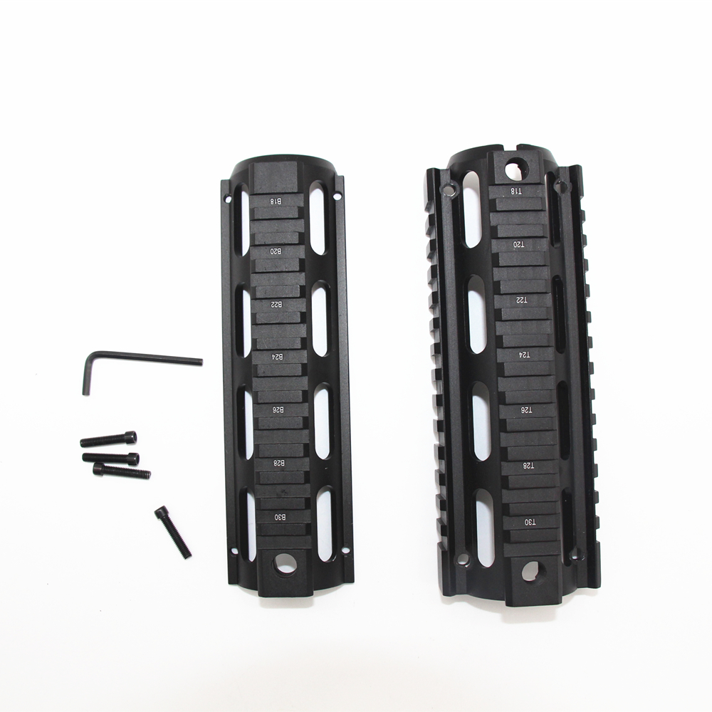 Airsoft <font><b>AR</b></font>-<font><b>15</b></font> M4 Carbine <font><b>Handguard</b></font> 6.7 inch RIS drop-in Quad Rail Mount for hunting gun accessories image
