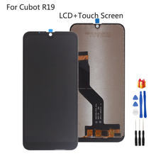 Black For Cubot R19 LCD Display Touch Screen Glass Sensor Digitizer Assembly For Cubot R19 LCD Display with tape Tools