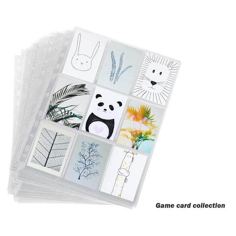 Game Card Collection Transparent Nine Grid 11 Hole Card Page Insert Card Page Table Game Collection Volume Loose Leaf