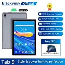 Blackview Tab 9 10.1″ Android 10 Tablet 1920×1200 Octa Core 4GB RAM 64GB ROM 4G Network 13MP Rear Camera 7480mAh Tablets PC