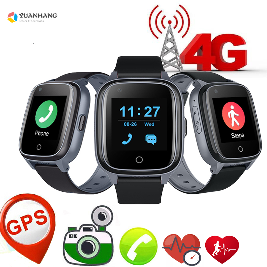 Permalink to Smart 4G Elderly Old Men Watch Heart Rate Blood Pressure GPS WIFI Position Track Monitor SOS Voice Video Call Camera Smartwatch