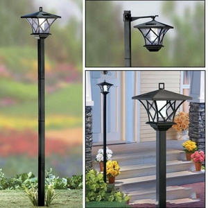 1.5M LED Solar Powered Traditional Garden Lamp Post Lamppost Lantern Light Decor