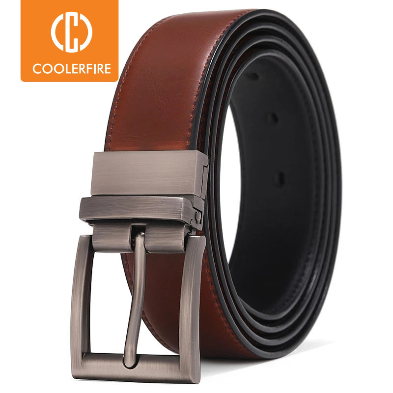 Men Reversible Casual High Quality Belt Man Genuine Leather Belt Male Strap Luxury Trouser Jeans Dress Belt For Men|Men