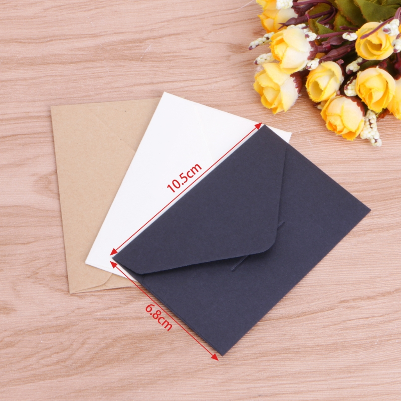 50pcs/lot Craft Paper Envelopes Vintage European Style Envelope For Card Scrapbooking Gift 4