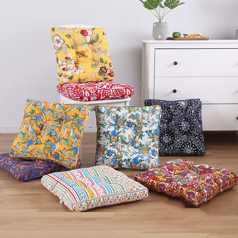 printing cushion tatami outdoor chair home decor sofa pillows backrest flower back seat pad square stool seat cushion garden mat