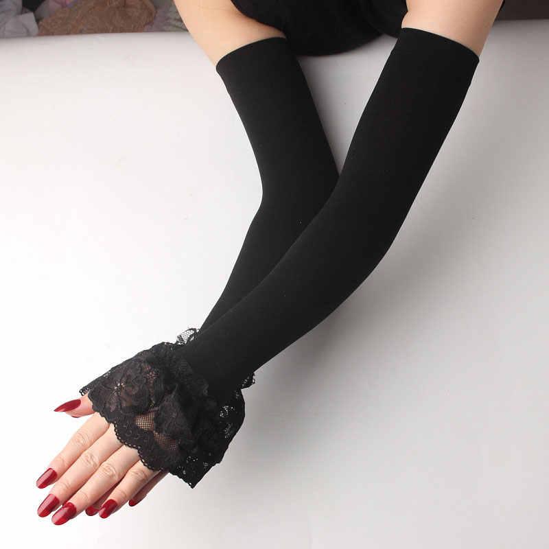 Длинные летние спортивные перчатки из шелковистого материала, грелки для рук и рук, защита от УФ лучей, для бега, езды на велосипеде, вождения, светоотражающие солнцезащитные ленты