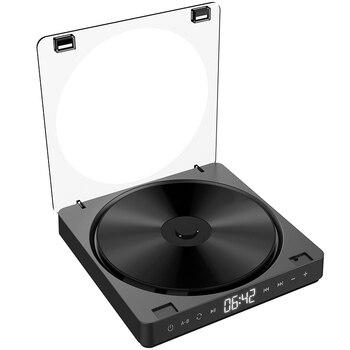 Reproductor de CD portátil, doble auricular, botón de contacto, Walkman de CD, recargable, pantalla LCD a prueba de golpes