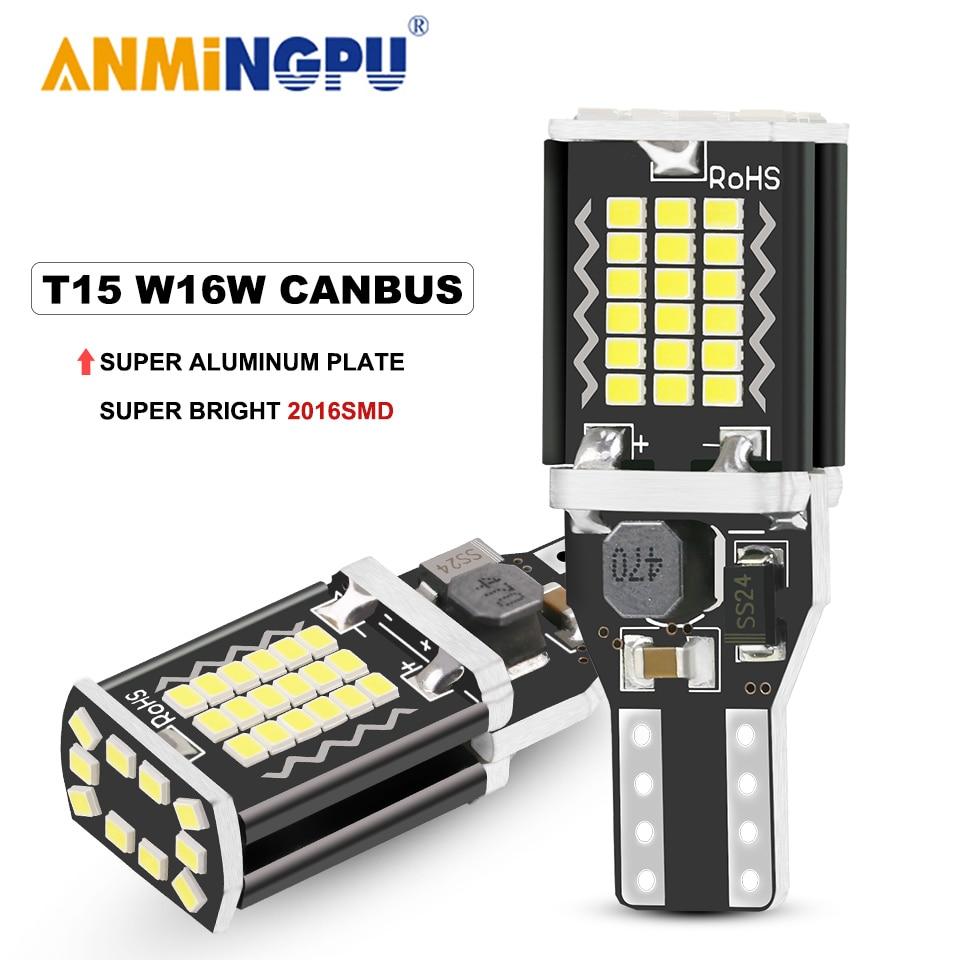Anmingpu 2x автомобиль светодиодная сигнальная лампа w16w t15