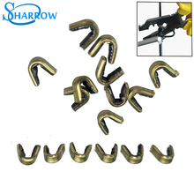 Hunting Accessories 10pcs Archery Arrow Bow Strings Buckle Clip Nock Set Copper Nocking Point String Position tool