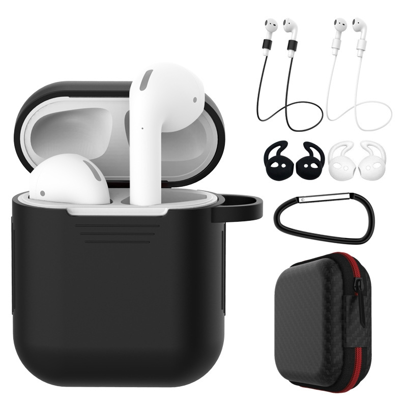 7 Pcs/Set Silicone Wireless Bluetooth Earphones Case For Airpods 1 2 Apple TWS Earbud Earphone Accessories Protective Cover