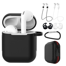 7 Pcs/Set Silicone Wireless Bluetooth Earphones Case For Airpods 1 2 Apple TWS Earbud