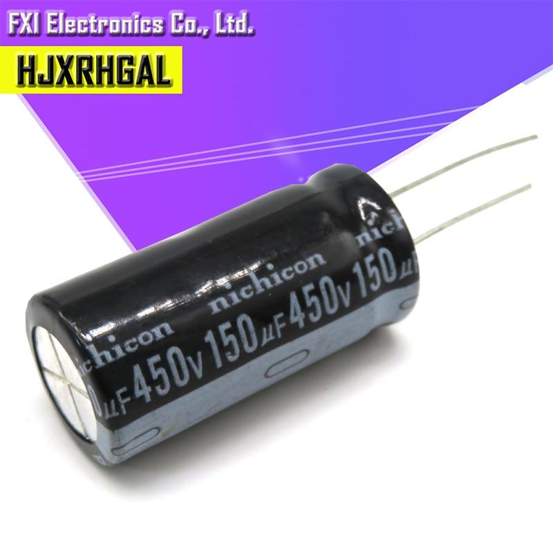 5PCS 450v150uf 150uf450v 18*35 450v 150uf 18x35 Electro Electrolytic Capacitor
