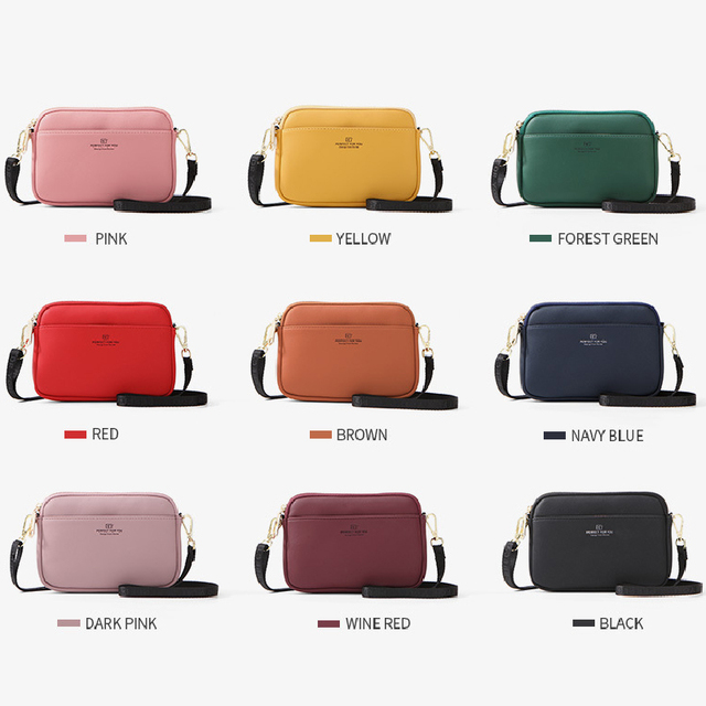YIZHONG Leather Luxury Shoulder Bag Crossbody Bags for Women Bucket Cluth Chest Bag Messenger Bag Multifunction Bolsa Sac 9color