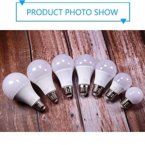 Image 5 - 10 יח\חבילה LED הנורה Dimmable מנורות E27 E14 220V 240V RGB Led הנורה חכם IC כוח אמיתי 24W 20W 18W 15W 12W 9W Lampada LED ומביליה