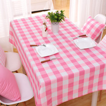 Table Cloth Country Style Plaid Print Rectangle Square Table Cover Tablecloth Home Textile Home Kitchen Decoration