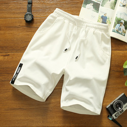 Japanese Style Shorts Men Polyester Running Sport Shorts for Men Casual Summer Elastic Waist Solid Shorts White Printed Clothing