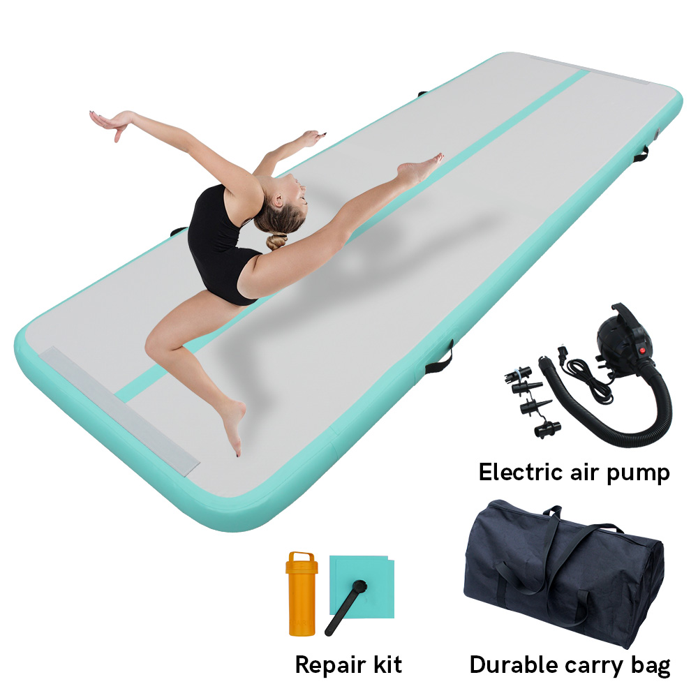3M Turnmatte Air Track Tumbling Matte Aufblasbare Gymnastikmatte Yoga Mat 10CM l