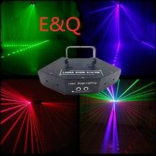 Новые лазерные линии изображения RGB, сканирование луча, DMX DJ, танцевальный бар, кофе, Рождество, Домашняя вечеринка, световые эффекты для диск...