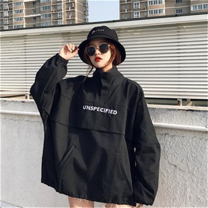 5XL New Harajuku Casual High Street Hooded Pullover Tops Long Sleeve Autumn Japan Fashion Hoodies Sweatshirts Punk Womens