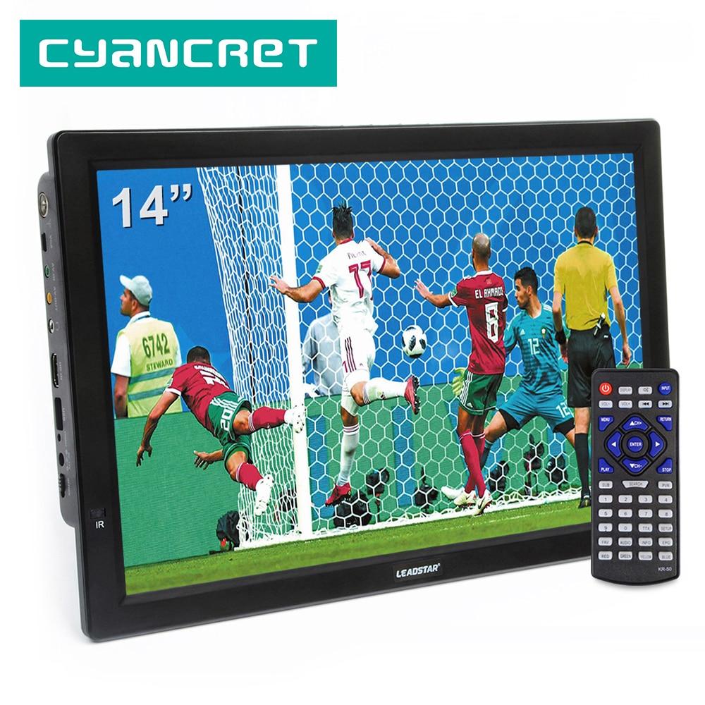 Портативный телевизор LEADSTAR D14, 14 дюймов, HD, ATSC, цифровой, аналоговый, мини-Телевизор в автомобиле, поддержка MP4, AC3, HDMI, монитор для PS4