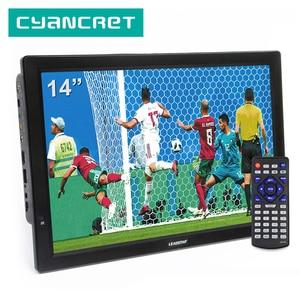 LEADSTAR D14 14 inch HD Portable TV DVB-T2 ATSC Digital Analog Television Mini Small Car TV Support MP4 AC3 HDMI Monitor for PS4(China)