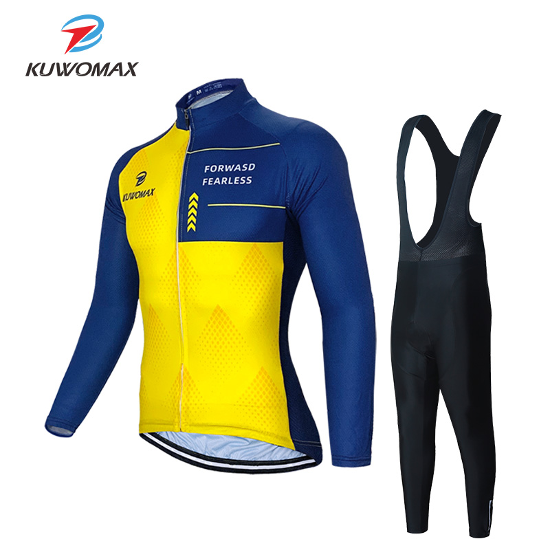 2020 Men Clothing Cycling Sets Breathable Long Sleeve Cycling Set Bike Kit Cycling Jersey Set Bicycle Jerseys MTB Bicycle Wear. image