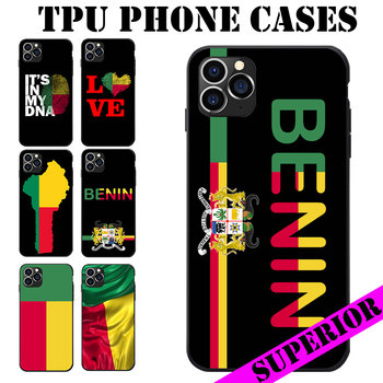 Benin Flag Coat Of Arms Theme Soft TPU Phone Cases For iPhone 6 7 8 S XR X Plus 11 Pro Max image