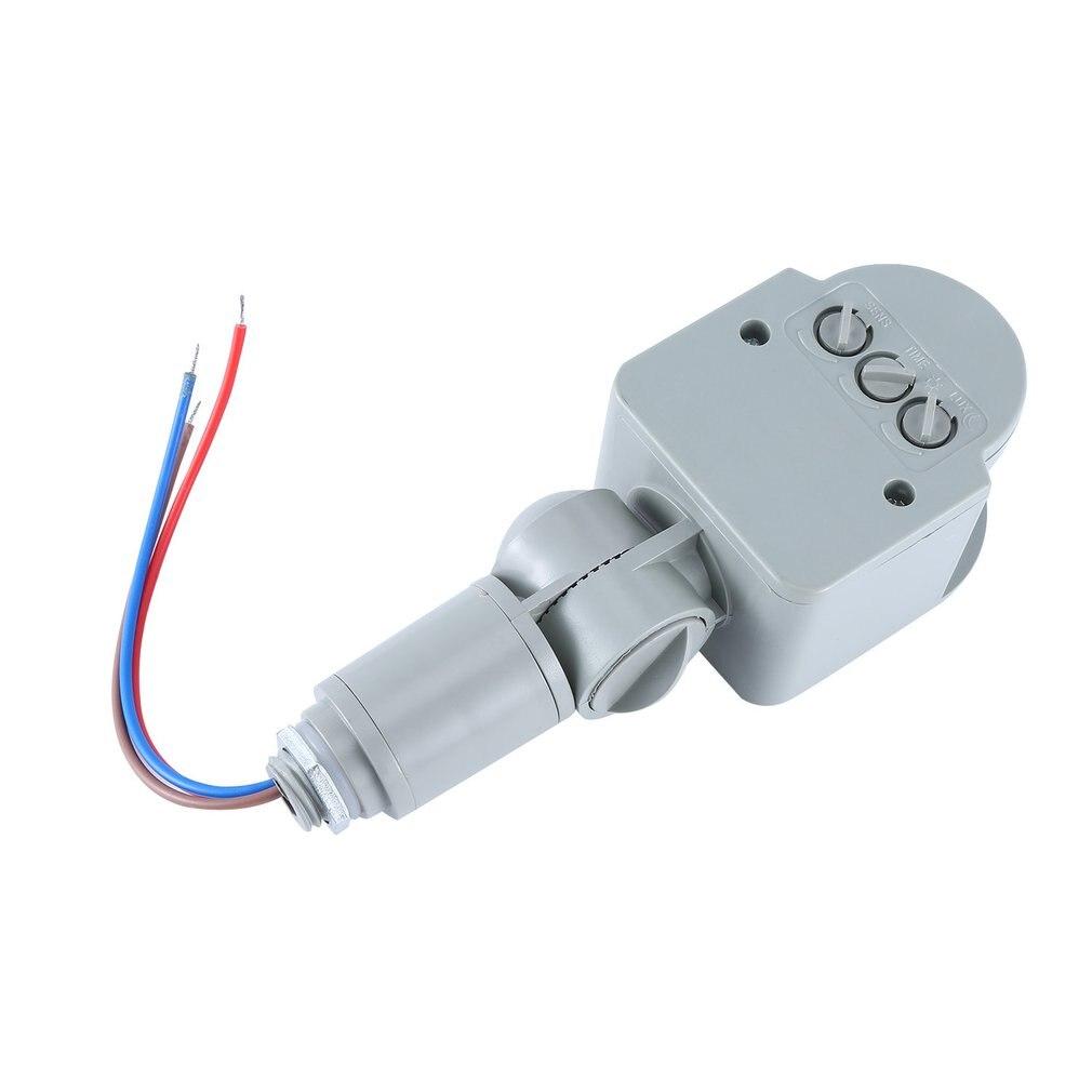 AC 220V DC 12V Infrared PIR Motion Sensor Switch With LED Light Automatic Outdoor Motion Sensor Light Switch 140 Sensor Degrees