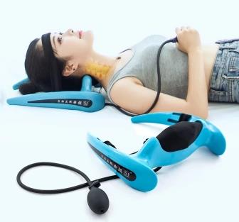 Cervical traction apparatus cervical spondylosis inflatable correction household neck collar and neck stretcher a neck pain