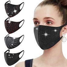 4 pçs pm2.5 dustproof boca tampões diamantes respirável boca máscara de festa para mulher lavável reutilizável mascarilla bocas laváveis