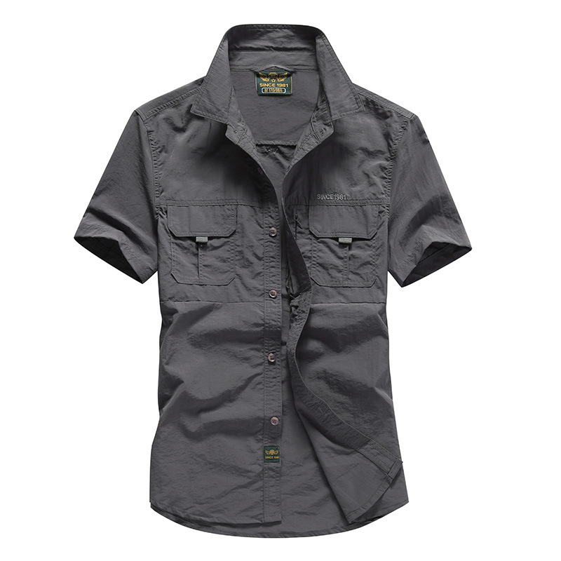 2020 Quick Drying Men Shirts Tactical Short Sleeve Shirts Male Military Breathable Outwear Work Shirt Men Chemise Homme