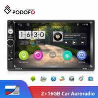 """Podofo 7 """"autoradio na androida 2 din radio samochodowe gps wi-fi bluetooth samochodowy odtwarzacz multimedialny 2din auto wieża stereo dla Ford radio coche"""