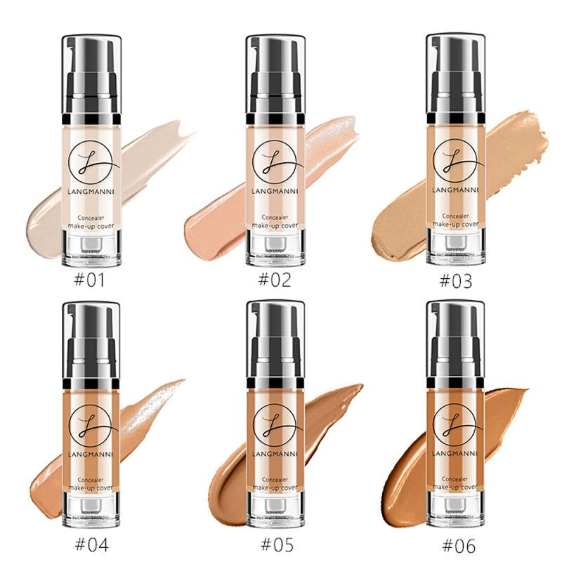 LANGMANNI facial whitening concealer foundation bright white cream lasting waterproof makeup brighten skin color BB cream TSLM1(China)