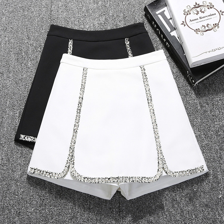 Shorts Women's 2020 New Korean-Style High Waist Slim Wide-Leg All-match Spring And Summer Shorts Students Shorts S-2XL Black
