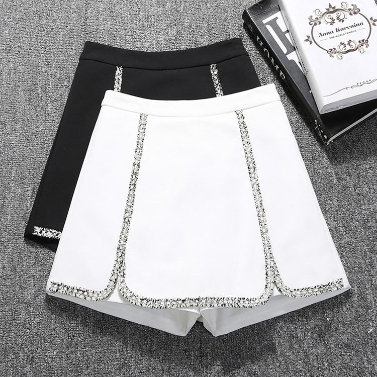 Shorts Women's 2020 New Korean-Style High Waist Slim Wide-Leg All-match Spring And Summer Shorts Students Shorts S-2XL Black